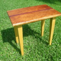 Cherry, maple and purple heart end table