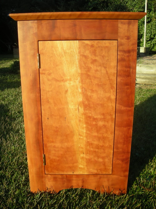Figured cherry cabinet