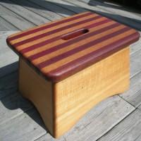 Spanish cedar and purple heart step stool