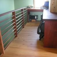 Spanish cedar, purple heart and copper pipe office area