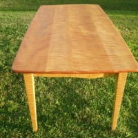 Tiger maple dining table