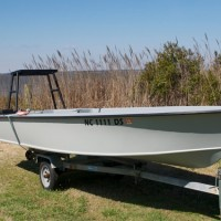17.5 flats skiff on trailer