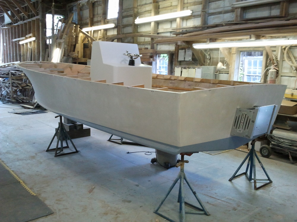22' center console with jackplate