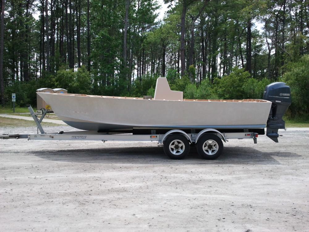 22' Center Console on Trailer