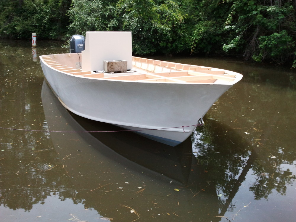 22' Center Console in water 2