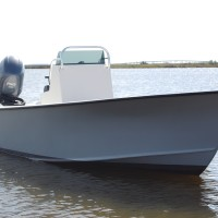 Harrison Boatworks 22' center console bow shot