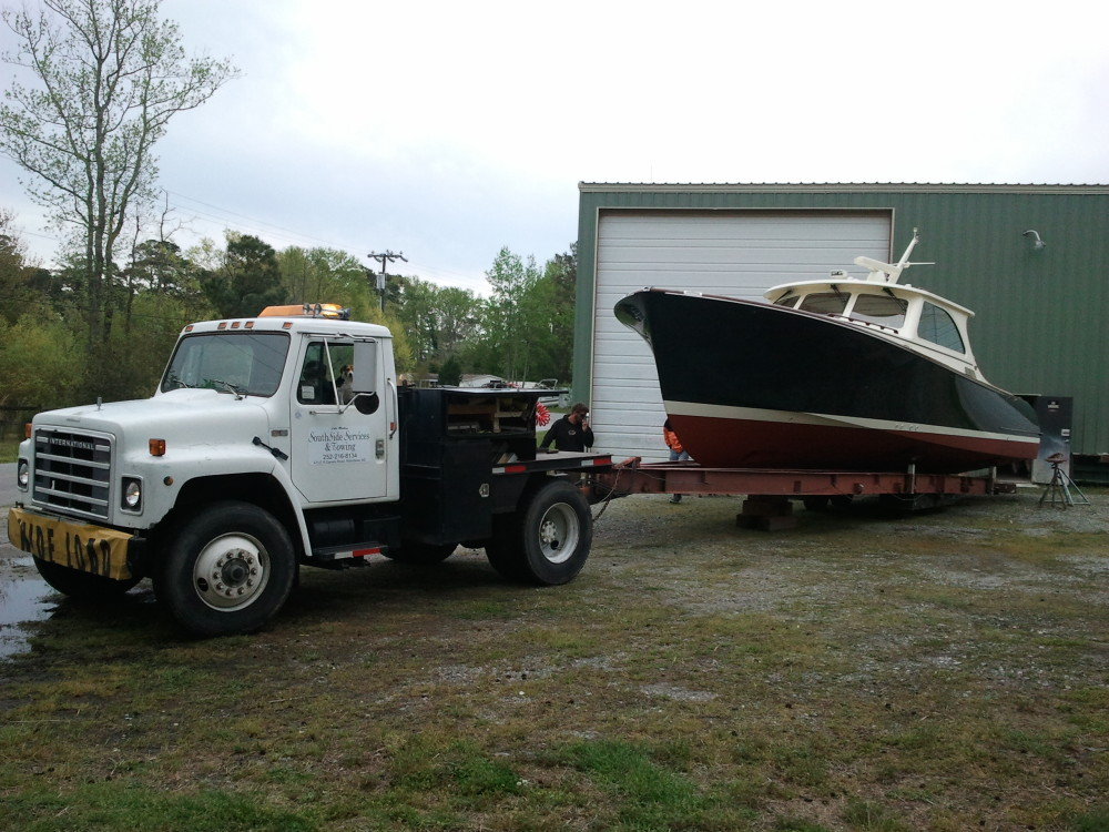 Hinckley Tilaria at Harrison Boatworks