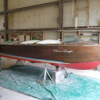 This vessel was a project that Billy Barwick took on. He fiberglassed and faired from the waterline down and next year he will be refinishing the topsides.