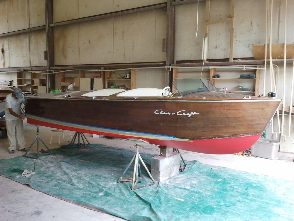 1946 Chris Craft at Harrison Boatworks