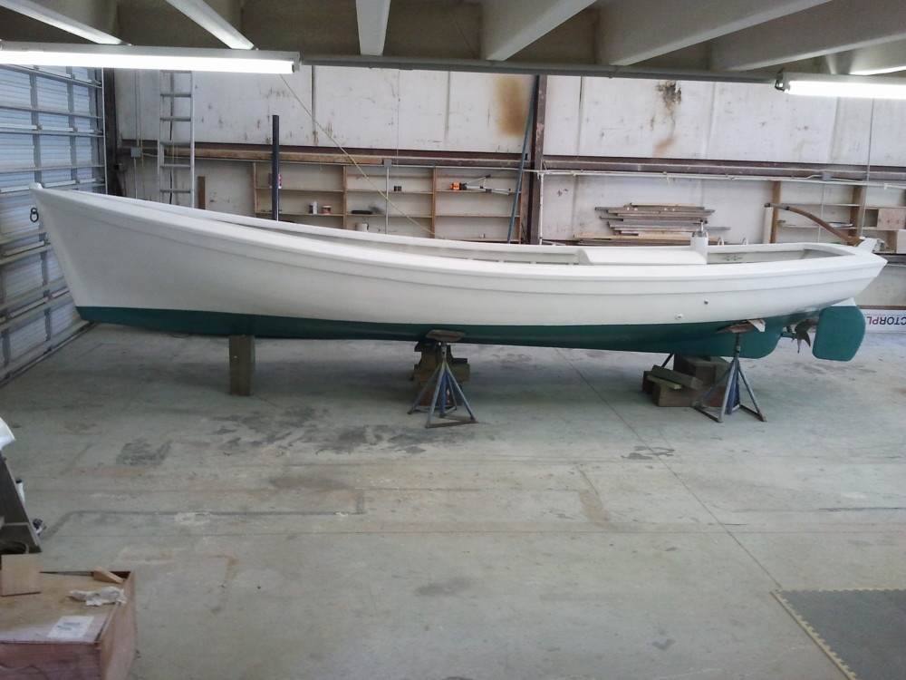 1930s N.C. Shad Boat at Harrison Boatworks