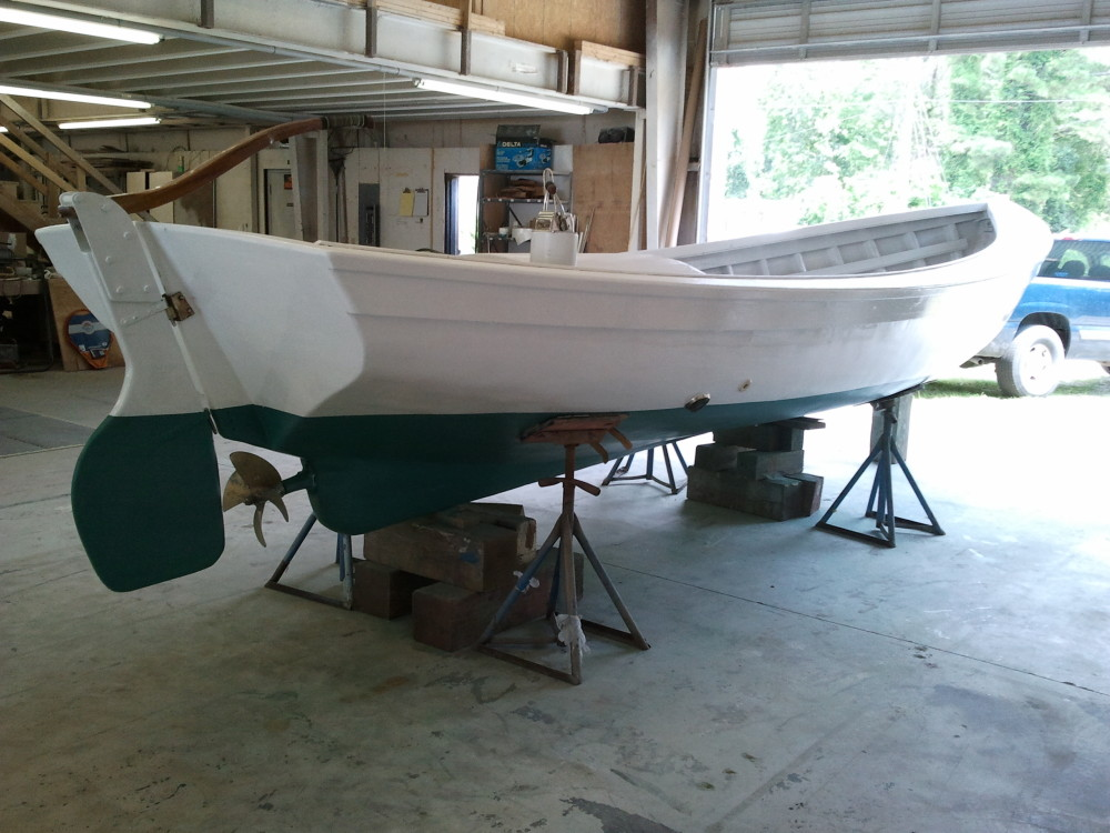 1930s shad boat at Harrison Boatworks