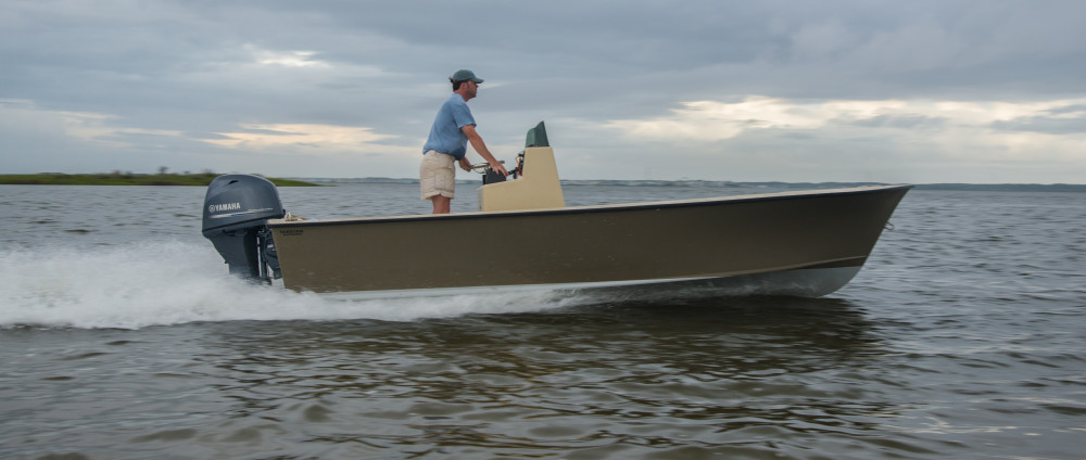 Outer Banks style tunnel skiff