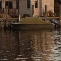 Duck hunting skiff